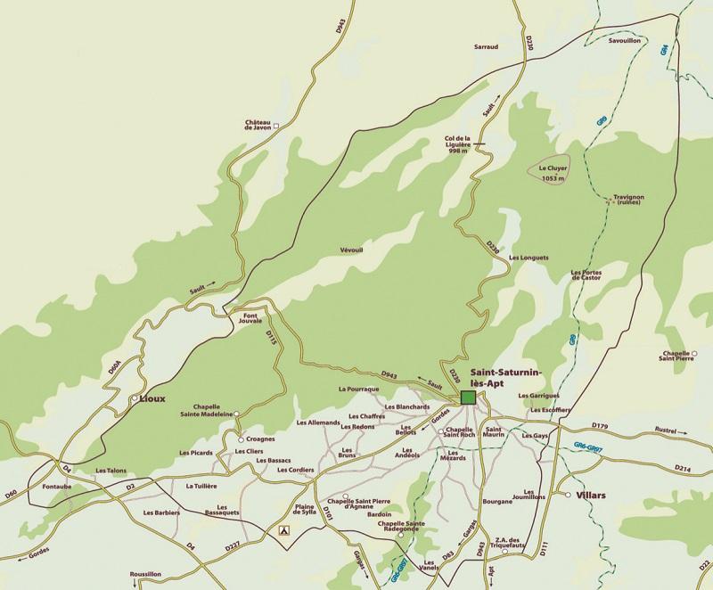 La commune de Saint-Saturnin comporte 28 hameaux.